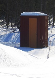 Outhouse wintertime